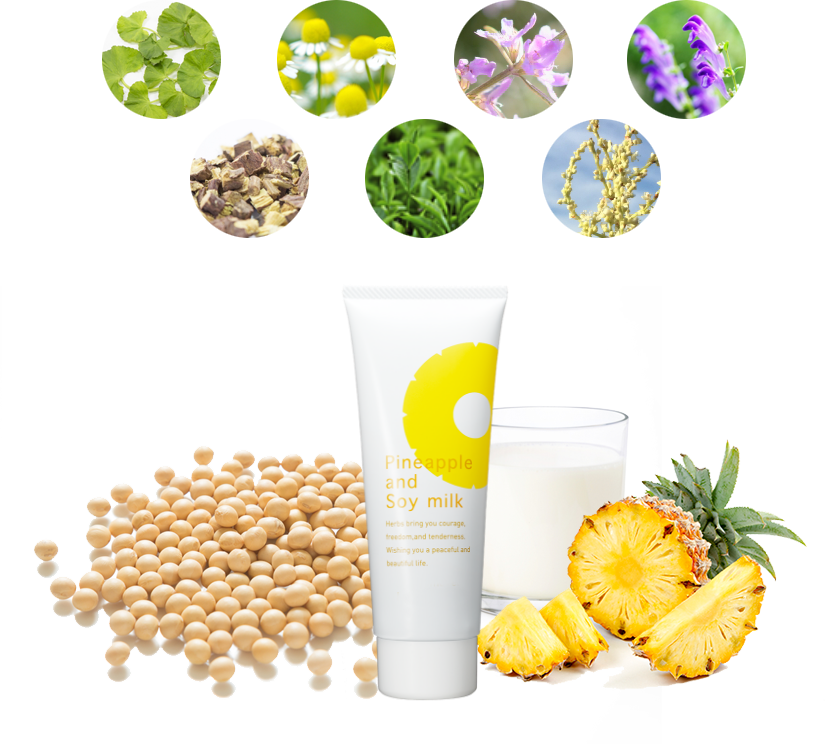 Hair inhibitor Pineapple and Soy Milk Lotion SUZUKIHERB LABORATORY hair removal for kids children toddler body hair removal